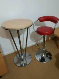 Bar chair and poseur table