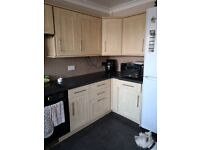 kitchen units, dishwasher and cooker