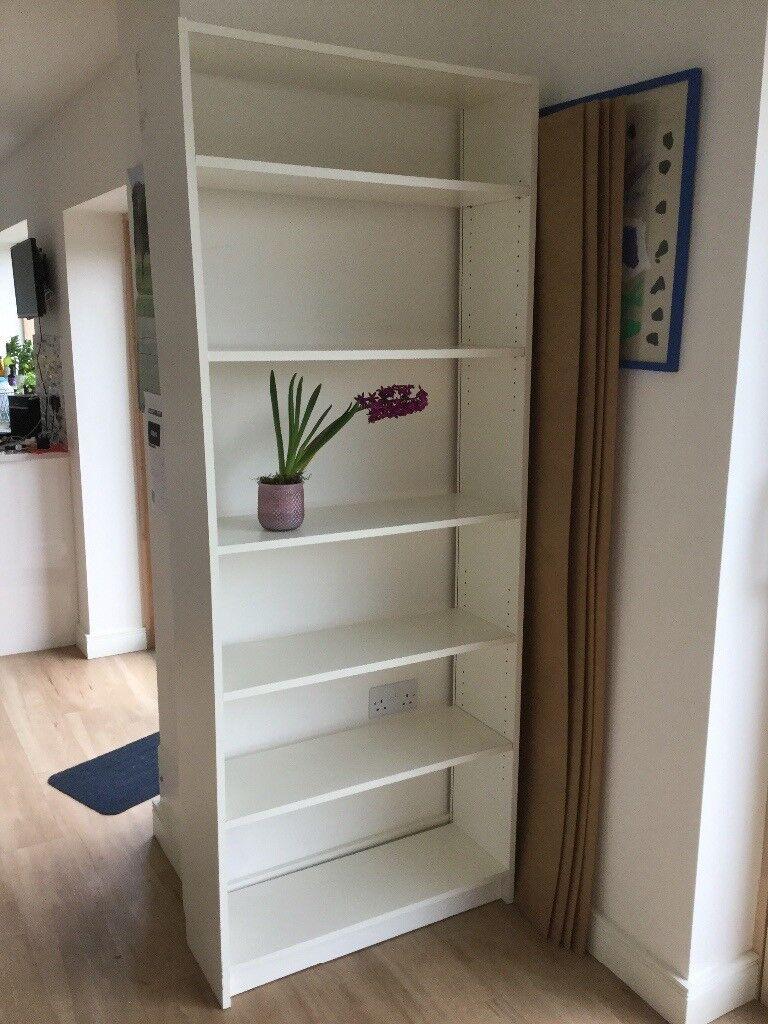 IKEA white Billy bookcase shelving unit