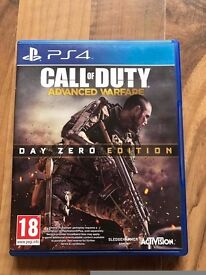 call of duty advanced warfare , ps4 , as new ! price stands , no offers !