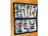 60 hand tied trout flies