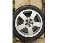Vw alloys and new tyres