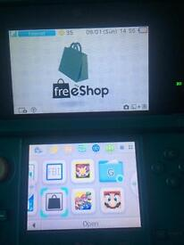 3ds/ 32gb SD/ Custom Firmware + Freeshop