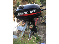 Mercury 2.5hp two stroke outboard engine in excellent condition