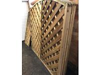 6 x 6ft weaved fence panels X6