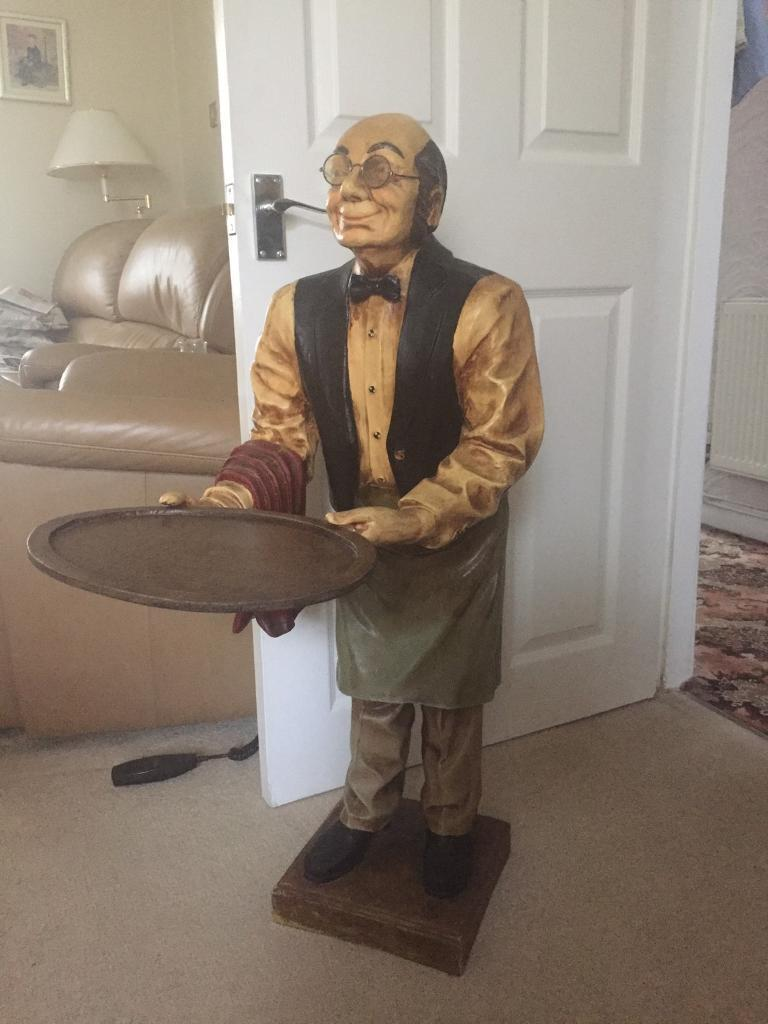 Dumb Waiter Statue Reduced For Quick Sale In Pentre