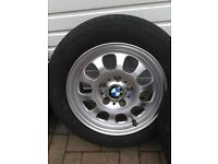 BMW 4 x Alloy Wheel's and tyres for a BMW
