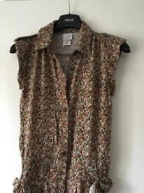Next Girls Beautiful summer jumpsuit with brown flower and some blue