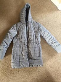 M&S girls coat age 11-12, light grey/silver