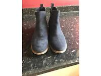 Superdry ankle boots blue suade