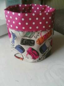 Ladies fabric storage tub