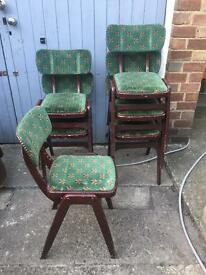 18 Available stackable retro style chairs job lot pub bar man cave project