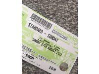Sunday creamfields ticket £100