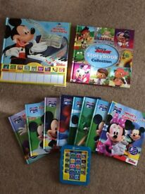 mickey mouse Ereader with 8 books excellent condition