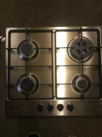 Neff Silver Gas Hob 4 Zone Front Control New and Umused