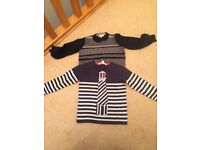 2 Boy's John Lewis jumpers age 3 in excellent condition as worn once.