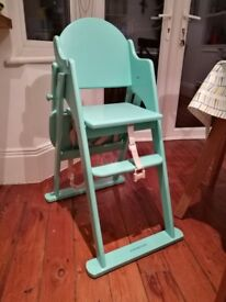 Mothercare Valencia Wooden Highchair – Teal - £40