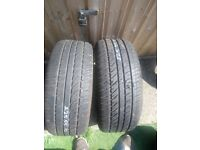 Pair 225 55 16 tyres with 7mm tread in Greenford area