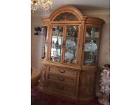Dining Room furniture. Includes ornamental dresser, table and 6 chairs (2 carvers)