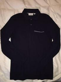 Navy L/S Lacoste Polo Shirt