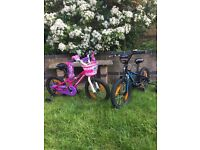 "Specialised Hotrock Kids Bikes 16"" wheels - one Pink one Blue"