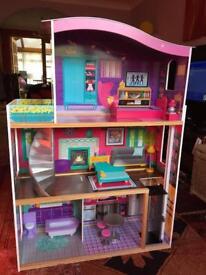 Girls Large Wooden Dollhouse