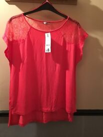 BRAND NEW PEACH TOP SIZE 16 STILL HAS PRICE TAG £8 NOW ONLY £4