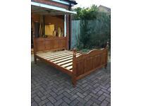 Solid pine kingsize bed