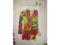 Ladies 60's flower power dress