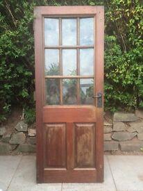 Used Hardwood cottage style glazed ,Bow Window Door