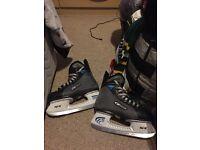 Size 4 Nike Bauer Ice skates