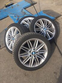 BMW 1 Series Alloy Wheels With Run Flat Tyres