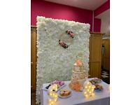 White Flower Wall 3D 7ft x 5ft. AVAILABLE FOR HIRE NOW in London/Essex