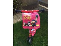 Postman pat scooter and bag