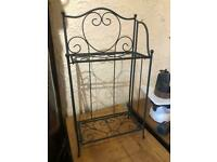 Metal and wire folding planter stand