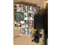 Play station 3 slim 500gb - 13 games - 2 controllers