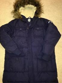 Boys navy parka coat