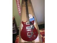 GRETSCH G5655T ROSA RED DOUBLE JET BLOCK GUITAR