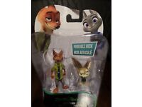 DISNEY ZOOTROPOLIS NICK AND FINNICK PLAY FIGURES
