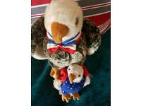 Rare American ty beanie bears mummy and baby eagles rare