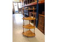 Floor standing four tier corner shelving