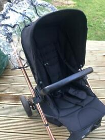 Mamas and Papas Sola 2 limited Edition Black and Rose Gold Travel System Used but on great condition