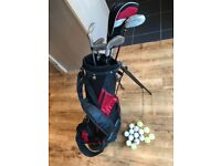 Children's golf clubs and bag
