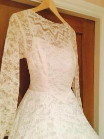 1940's French Lace vintage Wedding Gown