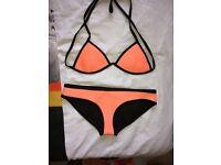 Triangl designer orange bikini