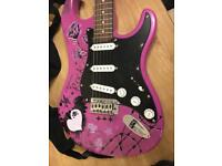 Electric Guitar Jaxville Pink Punk with Amp