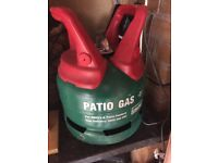 Gas bottle patio