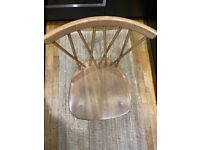 Rare Vintage 1960's Ercol Chiltern Candlestick dining chair