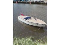 Classic 1960 albatross Mark 2 aluminium speedboat