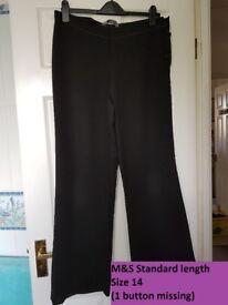 M&S Women's black trousers - Size 14
